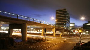 concrete bus bridge Almere, bridgbe design by ipv Delft