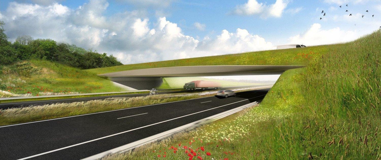 visualisation bridge design, ecoduct Assen