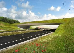 visualisation bridge design, ecoduct Assen