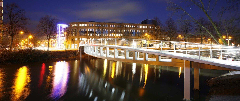 Foot bridge Zwolle de Tanerij, bridge design by ipv Delft