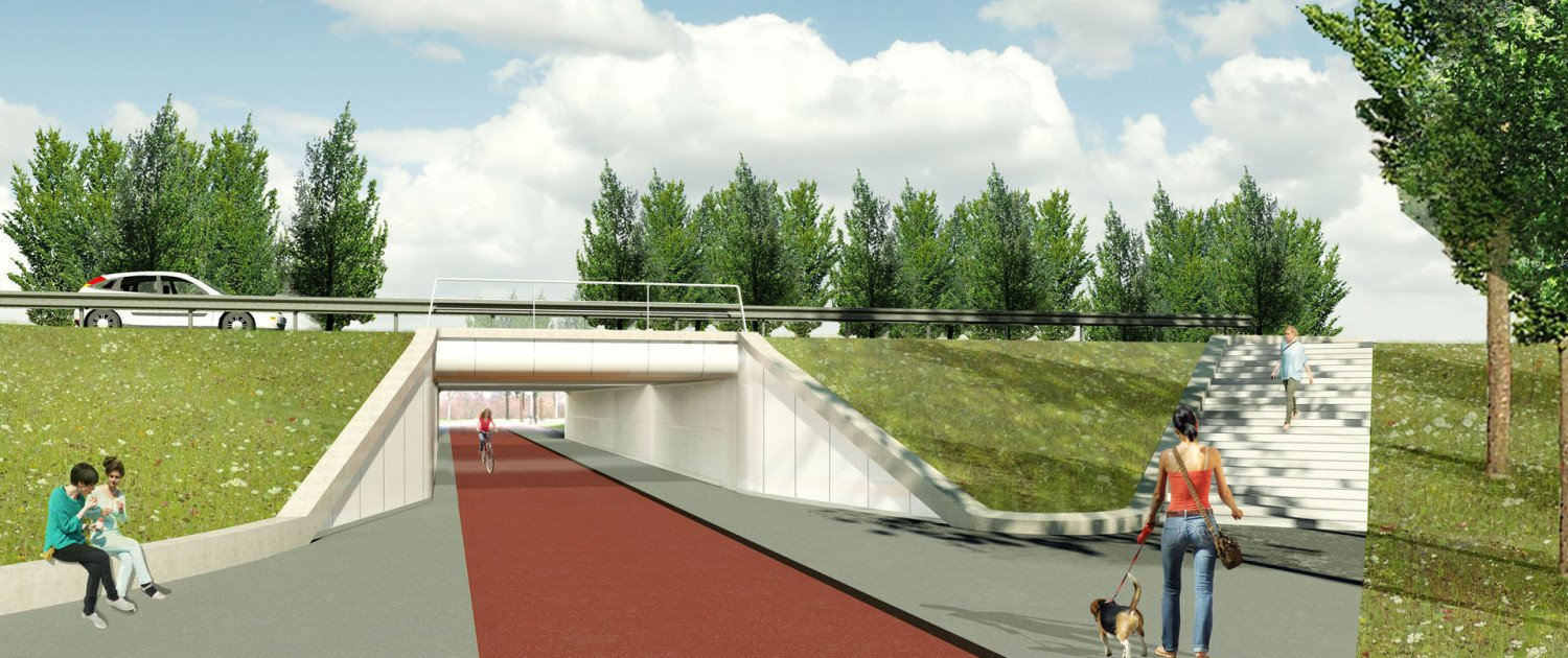 visualisation portal Poort Neerbosch, intersection reconstruction, design by ipv Delft