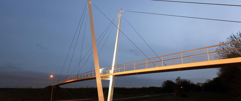 slender footbridge design by ipv Delft