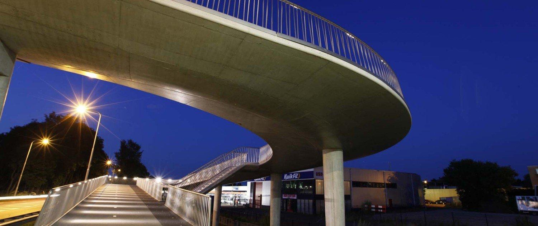 traffic bridge Stationsweg Heerhugowaard, bridge, design by ipv Delft, shortcut