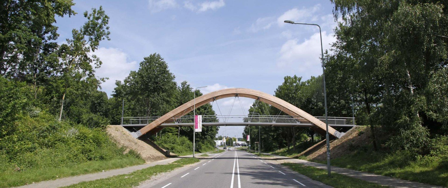 bycicle bridge steel, Hofstraat, bridge design by ipv Delft