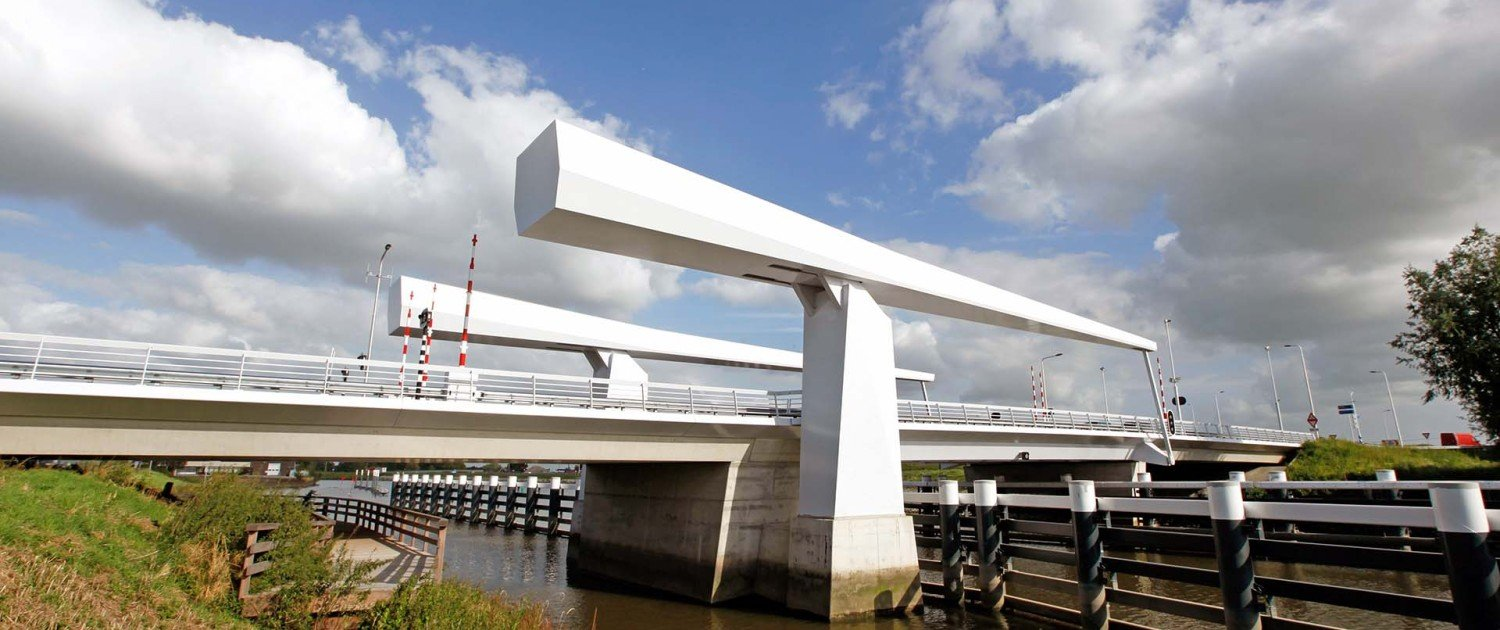 drawbridge Gouda, N207, bridge design by ipv Delft