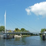 bycicle bridge Rijswijk, movable bridge, bridge design by ipv Delft