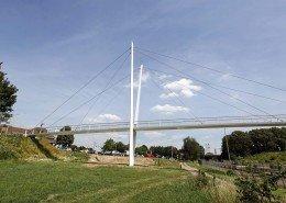 Stein bridge Heidekamppark, bridge design by ipv Delft