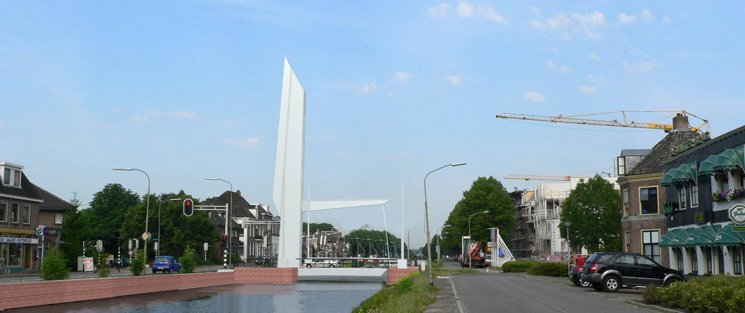 movable bridge Nieuwe Witterbrug Assen, modern, fresh design, by ipv Delft