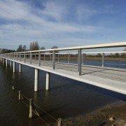 side view bridge Fortmond Olst, bridge design by ipv Delft