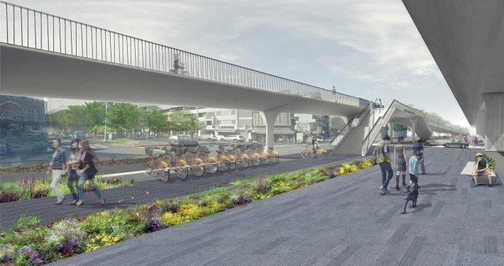 bridge design Taichung bridge, visualisation, design by ipv Delft