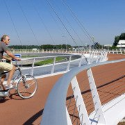 bycicle roundabout Eindhoven, Hovenring, innovative bridge design by ipv Delft