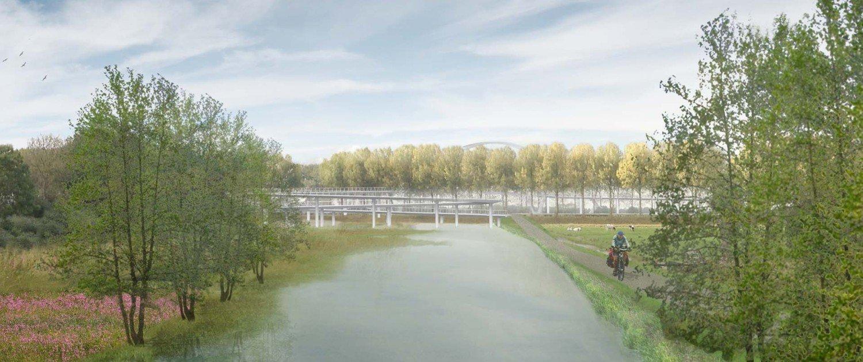 Nigtevecht bycicle bridge design, design by ipv Delft