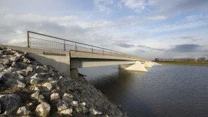 Kalvervaard bridge, member of bridge family Noordwaard, design by ipv Delft