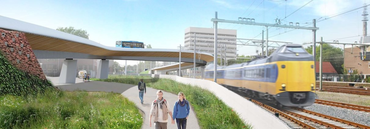 public transport bus bridge design Zwolle, by ipvDelft