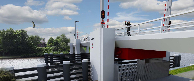 movable steel bridge Dronrijp ipv Delft