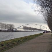 elevation slender bicycle bridge Nigtevecht design ipv Delft