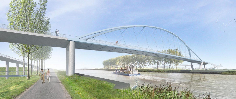 bicycle bridge final design ipv Delft