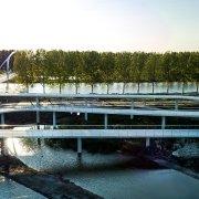 Nigtevecht bicycle bridge in situ concrete long slopes