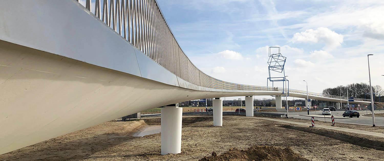 artwork design concrete bicycle bridge N274