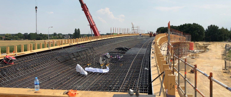 formwork reinforcement steel bridge Onderbanken