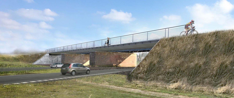 design bycicle bridge Baardwijkse Overlaat