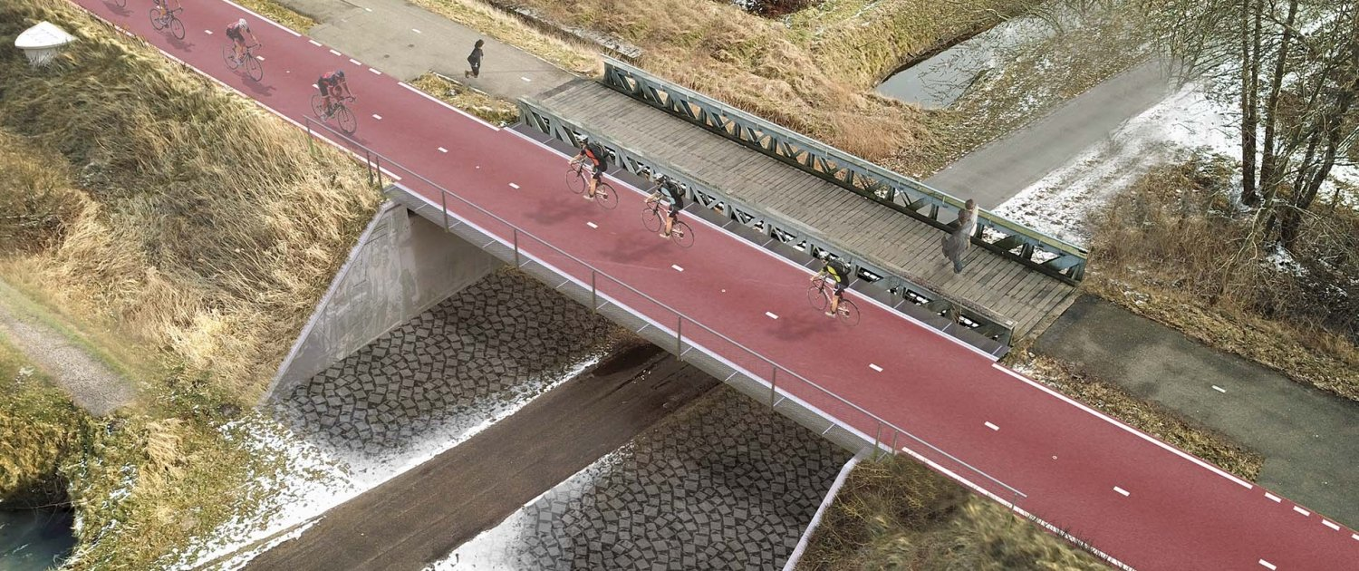 design bycicle bridge Baardwijkse Overlaat