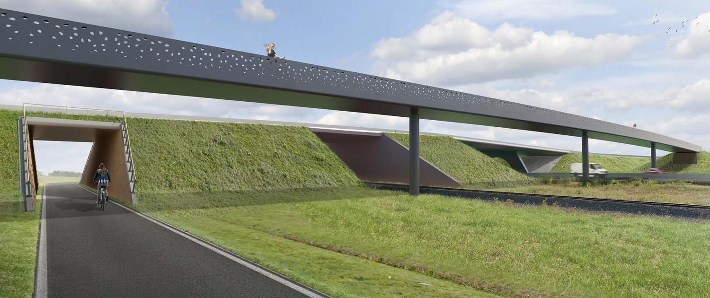 Bicycle Bridge ringweg Gent design sketch ipvDelft